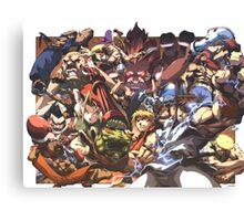 Street Fighter Tribute Canvas Print