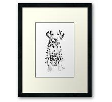 Dalmatian Watercolor Painting Dog White Black Nursery Poster Framed Print