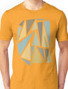 Gray and blue triangles Unisex T-Shirt