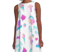 Pastel Goth A-Line Dress