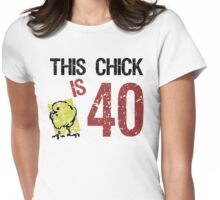 Women's Funny 40th Birthday Womens Fitted T-Shirt