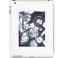Space Planet Moon Print. Abstract Art Painting iPad Case/Skin