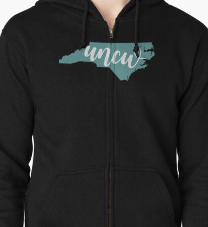 UNCW State Zipped Hoodie