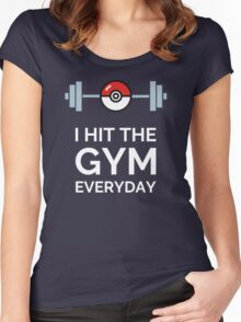 Pokemon Go - I Hit The Gym Everyday Women's Fitted Scoop T-Shirt