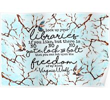 Virginia Woolf Quote Poster