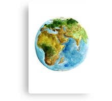 Planet Earth Africa Map Watercolor Painting Map Poster Canvas Print