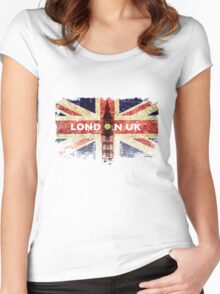 Vintage London. Women's Fitted Scoop T-Shirt