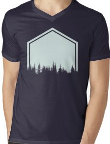 Hexa Nature  Mens V-Neck T-Shirt