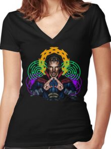 Strange and Trippy... Women's Fitted V-Neck T-Shirt