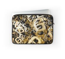 Letters conglomeration Laptop Sleeve