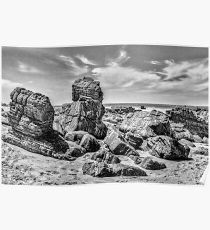 Big Rocks at Praia Malhada Jericoacoara Brazil Poster