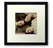 Sisters and Friends Framed Print
