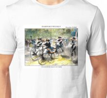 HARPER'S WEEKLY;  Vintage Bicycle Racing Print Unisex T-Shirt