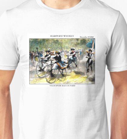 HARPER'S WEEKLY;  Vintage Bicycle Racing Print Unisex T-Shirt