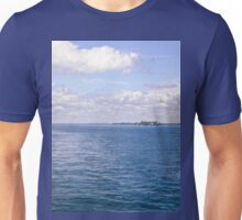 The St. Lawrence River. ON Canada and New York, USA seen from tour boat Unisex T-Shirt