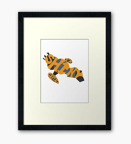 I'm Shiny Captain - Serenity and Firefly - Yellow Framed Print