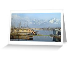 Srinagar Houseboat, Dal Lake Greeting Card