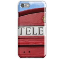 red phone booth iPhone Case/Skin