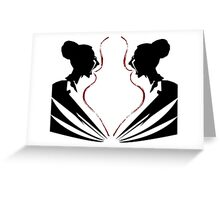 Two Symmetrical Girls Greeting Card