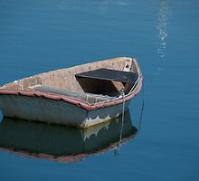Little Boat in Rockport Harbour by Gerda Grice