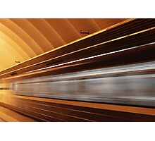 speed train with motion blur Photographic Print