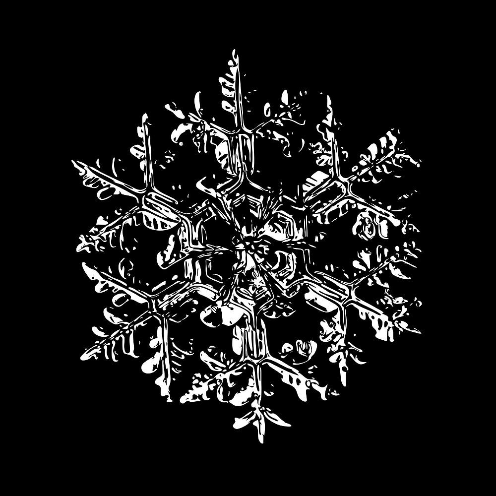 Snowflake vector - Gardener's dream black version by Alexey Kljatov