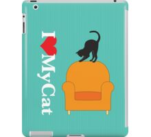 Cat on a yellow armchair iPad Case/Skin