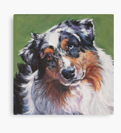 Australian Shepherd Fine Art Painting Canvas Print