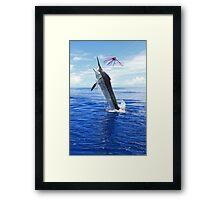 Marlin Canvas or Print - Giant Black Marlin Framed Print
