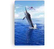 Marlin Canvas or Print - Giant Black Marlin Canvas Print