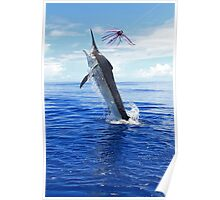 Marlin Canvas or Print - Giant Black Marlin Poster