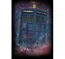 Tardis  and Space Photographic Print