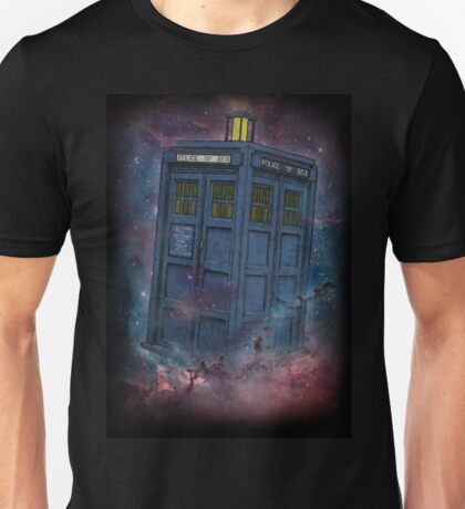 Tardis  and Space Unisex T-Shirt