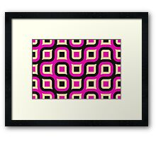 Wide retro background Framed Print