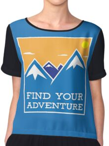 Find Your Adventure Outdoor Mountains Chiffon Top