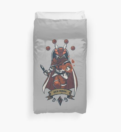 Red Mage Class Duvet Cover