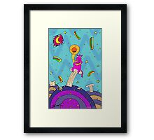 Cat with trumpet Framed Print