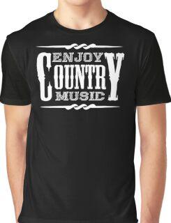 Enjoy Country Music (white) Graphic T-Shirt