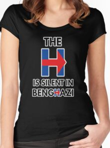 The H Is Silent In Benghazi Women's Fitted Scoop T-Shirt