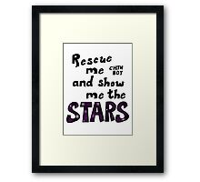 Rescue me chin boy Framed Print