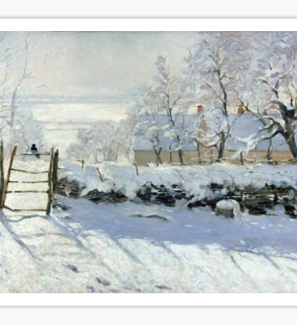 The Magpie by Monet Sticker