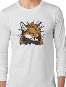 STUCK - Red Fox / Fuchs (bright backgrounds) Long Sleeve T-Shirt