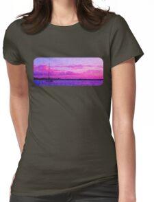 Crimson Sunrise. Printed Scenic Mugs. Photo Art. Womens Fitted T-Shirt