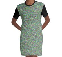 Colourful Scribble Graphic T-Shirt Dress