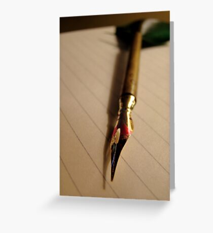There is nothing to writing. All you do is sit down at a typewriter and bleed.  Greeting Card