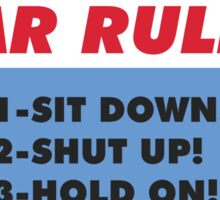 Funny Car Rules Sticker Sticker