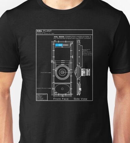 2001 A Space Odyssey HAL 9000 blueprint Unisex T-Shirt