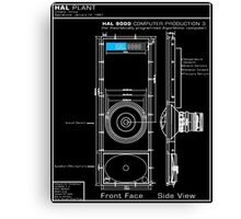 2001 A Space Odyssey HAL 9000 blueprint Canvas Print