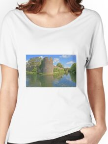 Bishop's Palace Moat, Wells Women's Relaxed Fit T-Shirt