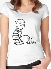 Funny Trump vs Hillary Women's Fitted Scoop T-Shirt